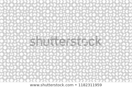 1000 blanche pièces rectangle forme Photo stock © evgeny89
