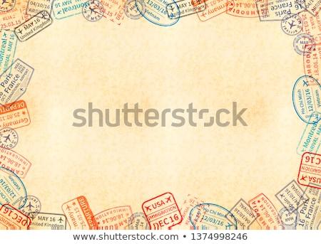 Horizontal tamaño amarillo hoja papel viejo marco Foto stock © evgeny89