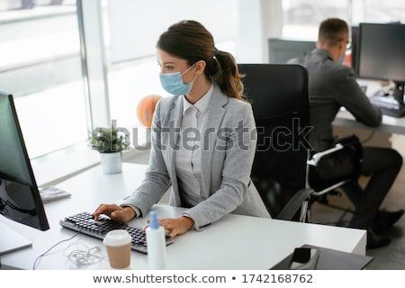 Ziek werknemer kantoor griep lijden business Stockfoto © AndreyPopov