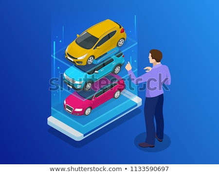 Car Dealer Buyer isometric icon vector illustration Stock photo © pikepicture