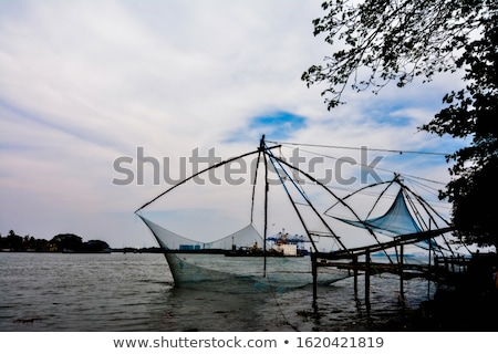 Chinese fishing nets found in Cochin, India Stock photo © photoblueice
