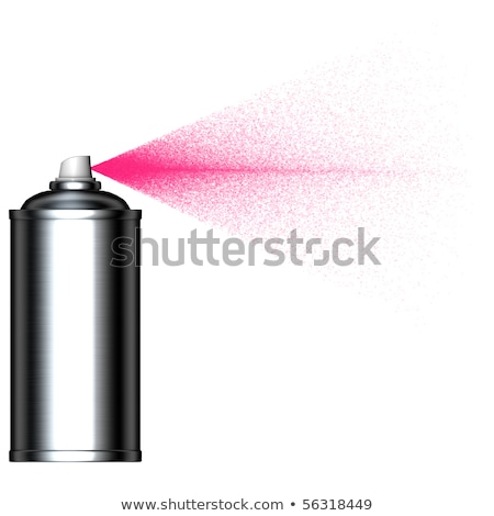 spraying pink mist spray can seen from the side Stock photo © Melvin07