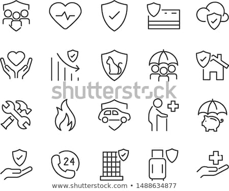 home and house insurance and risk icons stock photo © stoyanh