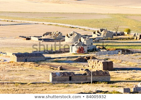 ruins of windmills, Ampudia, Castile and Leon, Spain Stock photo © phbcz