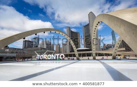 Skating in downtown Toronto Stock photo © elenaphoto