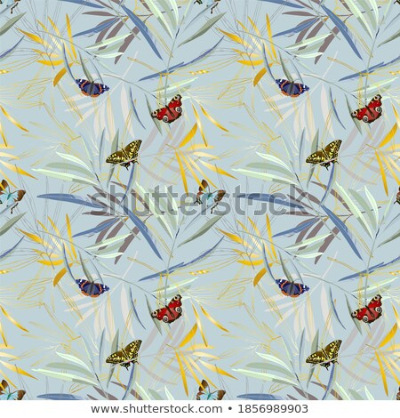 Papillons branche été illustration design anniversaire Photo stock © christina_yakovl