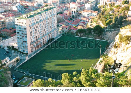 Football pitch in Marseilles, France Stock photo © Elenarts