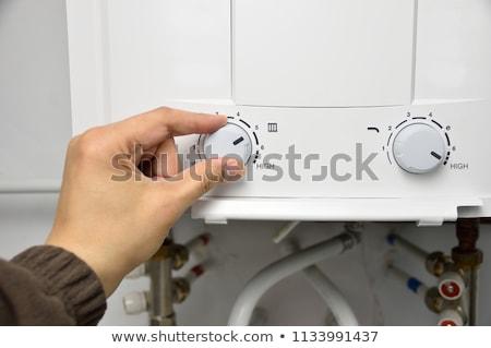 Chauffage thermostat isolé blanche technologie Photo stock © boroda