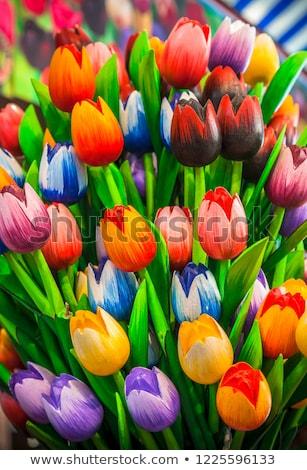 színes · tulipánok · piac · vásár · virág · esküvő - stock fotó © razvanphotography