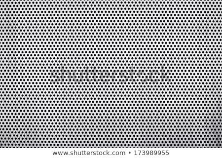 Structured metallic perforated sheet Stock photo © Ecelop