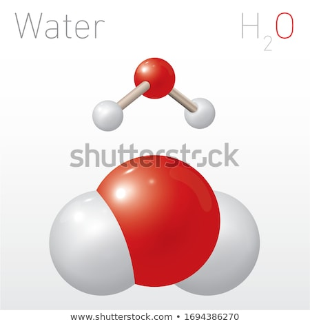 H2O - water chemical symbol Stock photo © ozaiachin