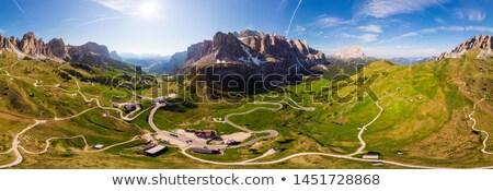 Pordoi pass, aerial view Stock photo © Antonio-S