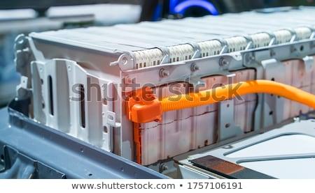 Bateria isolado branco preto poder elétrico Foto stock © digitalr