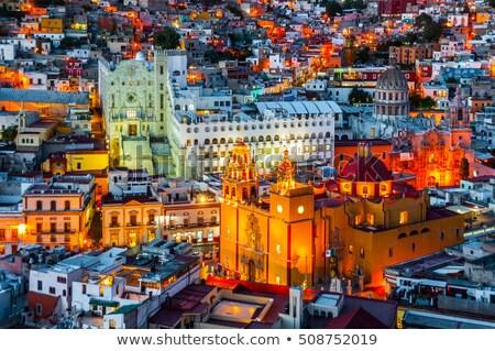 Town on the hill Guanajuato Mexico Stock photo © emattil