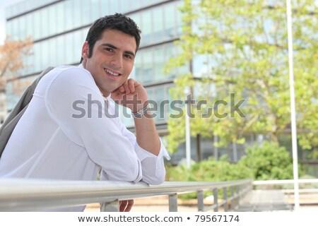 ビジネスマン レール 日照 オフィス 建物 ストックフォト © photography33