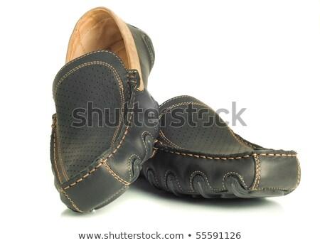 Chamois Leather Mens Shoes Stok fotoğraf © Arsgera
