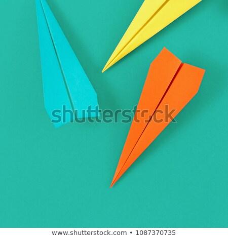 плоскости бумаги изолированный белый самолет Сток-фото © Givaga