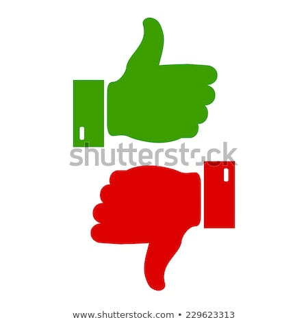 like and dislike labels stickers set Stock photo © fotoscool