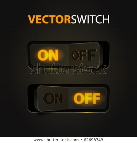 Cool power button with blue LED Stock photo © vipervxw