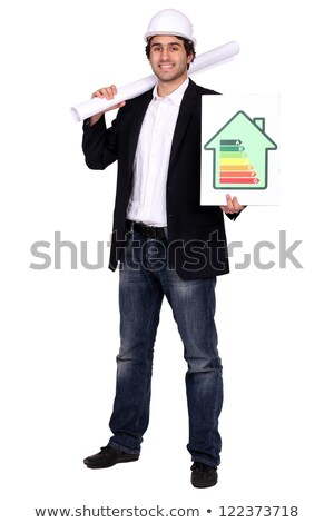 architect stood with energy rating poster stock photo © photography33