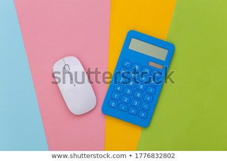 Masaüstü hesap makinesi siyah yalıtılmış beyaz iş Stok fotoğraf © toaster