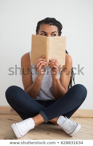Mulher jovem preto perneiras isolado moda Foto stock © acidgrey