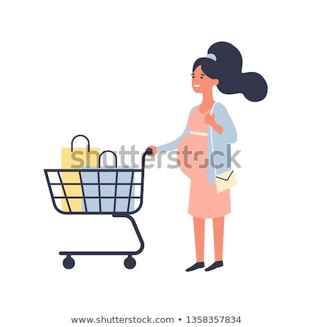 ショッピング · 妊婦 · 少女 · 妊娠 · 都市 - ストックフォト © carodi