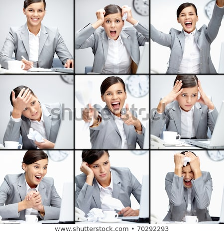 Collage of businesspeople in different situations Stock photo © wavebreak_media