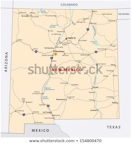 карта · Нью-Мексико · Соединенные · Штаты · аннотация · фон · связи - Сток-фото © Schwabenblitz