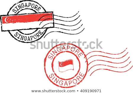 Singapore · timbro · vintage · stile · paese - foto d'archivio © squarelogo