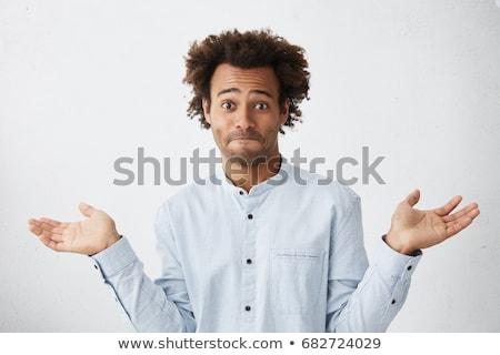 Hombre espalda hombre blanco blanco manos sonrisa Foto stock © wavebreak_media
