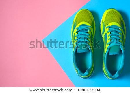 Futócipők sport egészség mező tornaterem kék Stock fotó © leeser