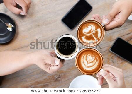 Jonge zwarte uitvoerende laptop beker koffie Stockfoto © photography33