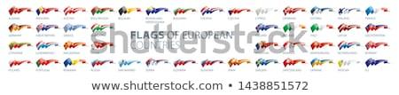 Vlag Luxemburg schaduw witte achtergrond zwarte Stockfoto © claudiodivizia