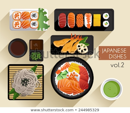 Vegetables fried tempura menu, Japanese food Stock photo © JohnKasawa