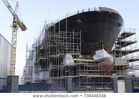 высушите · грузовое · судно · лук · облака · безопасности · судно - Сток-фото © mady70