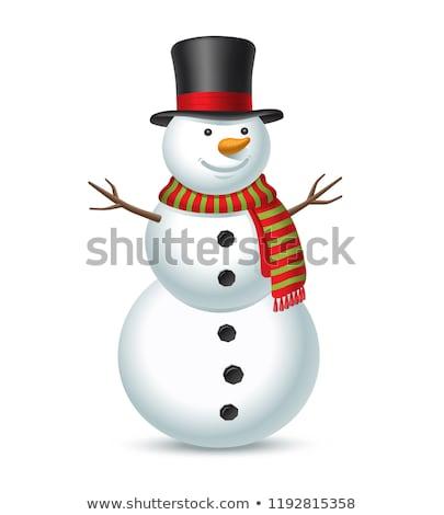 Stock photo: Snow man