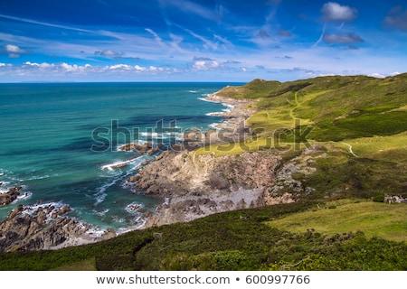 Kuzey sahil gün batımı plaj güney batı Stok fotoğraf © ollietaylorphotograp