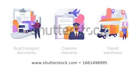 Import gomb modern számítógép billentyűzet üzlet háttér Stock fotó © tashatuvango