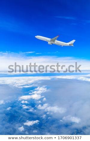 Comerciales avión corto despegue negocios cielo Foto stock © Amaviael