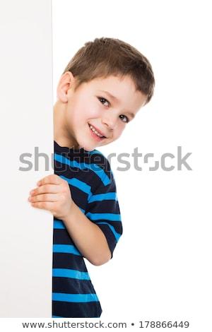 Jongen gelukkig ogen kind kid jonge Stockfoto © soupstock