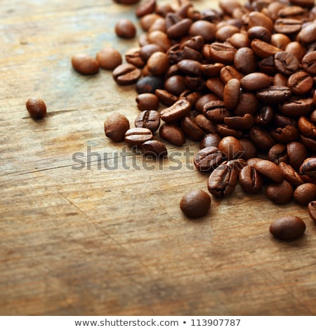 Roasted coffee beans and coffee grinder. Stock photo © justinb