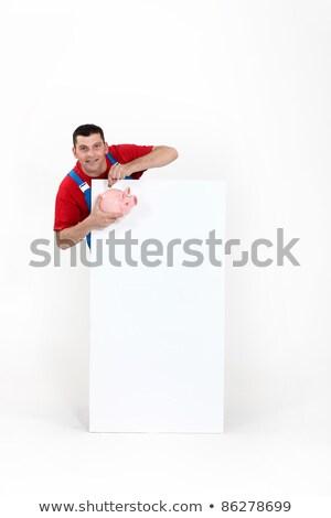 Artisan porc banque affiche affaires Photo stock © photography33