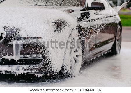 Auto druk wasmachine jet wassen Stockfoto © w20er