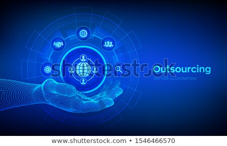 Outsourcing Concept on Digital Background. Stock photo © tashatuvango