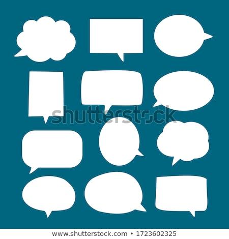 konuşmak · bulutlar · stil · mürekkep · grafik · ayarlamak - stok fotoğraf © burakowski