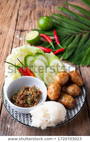 fired meat balls delicious thai food Stock photo © tungphoto