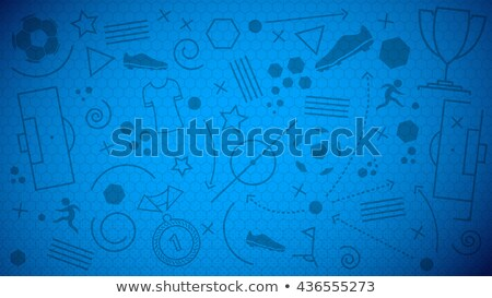 Soccer Background with Ball and Award Trophy Stock photo © WaD