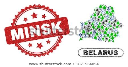 made in belarus   red rubber stamp stock photo © tashatuvango