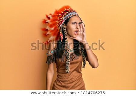 Indiano mulher jovem frustração adulto mulher Foto stock © bmonteny